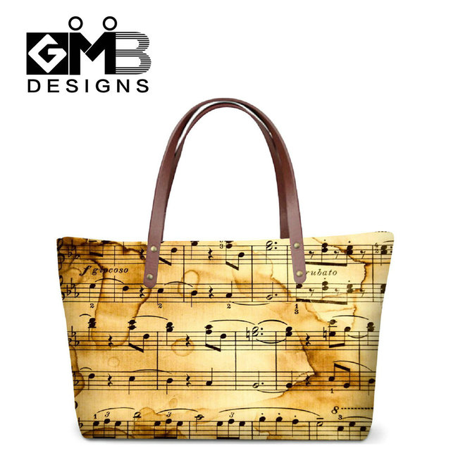 Dispalang 2017 newly design 3D musical note pattern women's hand bags ladies shopping shoulder totes bag purse handbag wholesale