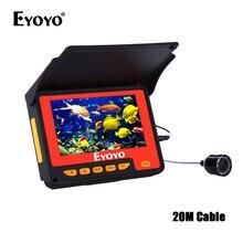 """EYOYO F05 4,"""" 20 м инфракрасный ИК рыболокатор лодка подводный лед рыболовная камера рыболокатор видео рыболокатор sondeur peche bateau"""