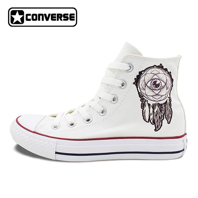 Converse All Star High Top Shoes for Men Women Dreamcatcher Design Flats Lace Up Canvas Sneakers for Gifts men women s converse all star shoes high top lace up flats design five food recipes on white canvas sneakers gifts