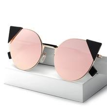 OOBON Vintage Cat Eye Women Sunglasses Brand Design Metal Frame Retro Sun Glasses For Female Oculos De Sol Feminino With Case