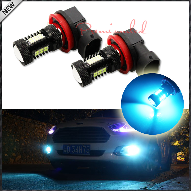 iJDM 10000K Ice Blue 21-SMD-2835 H11 H8 H9 H16JP LED Bulbs For Fog Light Replacements or DRL Light,12V ice q marathon 10000 bw
