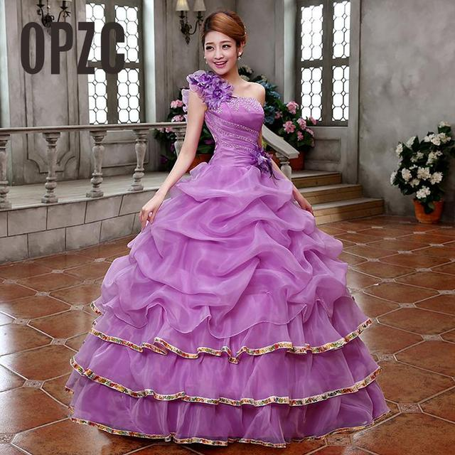 Real Photo 4 Color Wedding dresses 2017 New Style Color Yarn For Party long female  art exam Gowns Part Dress Vestidos De Novia cd3922a2a12b