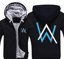 Alan Walker Linkin Park Thick Fleece Mens Outwear Big Yards Cotton Hoodie Coat Jacket Parkas Warm