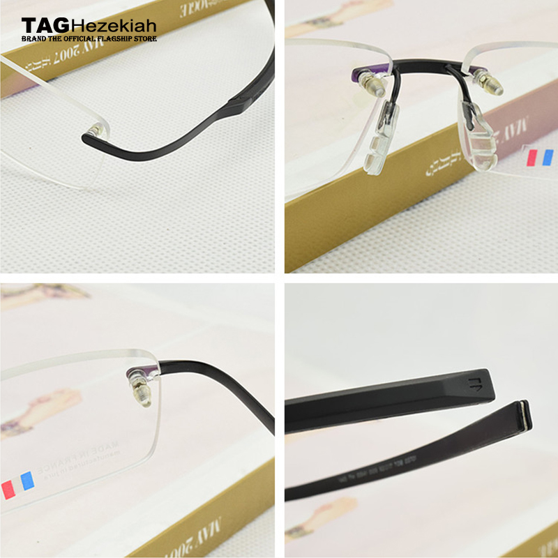 aacb64a9c9 2018 Frameless Eyeglasses Brand TAG Hezekiah Myopia Glasses Frame for Man  and Woman TH0341 eye glasses oculos de grau eyewear-in Eyewear Frames from  Apparel ...