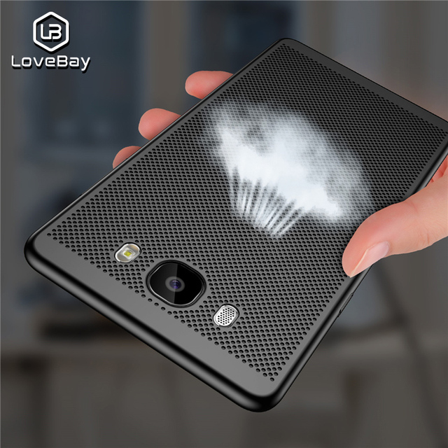 Lovebay Phone Case For Samsung Galaxy S6 S7 Edge S8 S9 Plus Note 8 9 A3 A5 A7 A8 J3 J5 J7 Hollow Heat Dissipation Hard PC Case