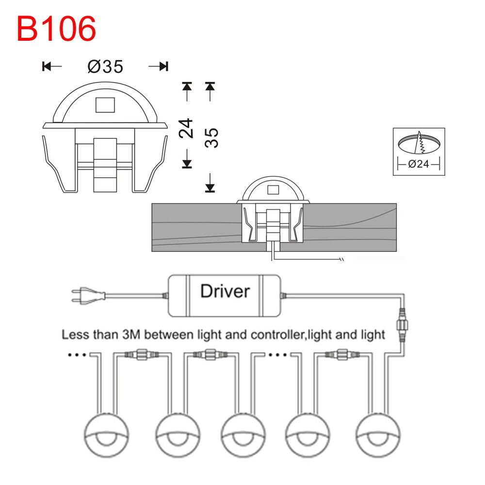 10pcs / Lots Interior y exterior Escaleras con escalones LED - Iluminación exterior - foto 6