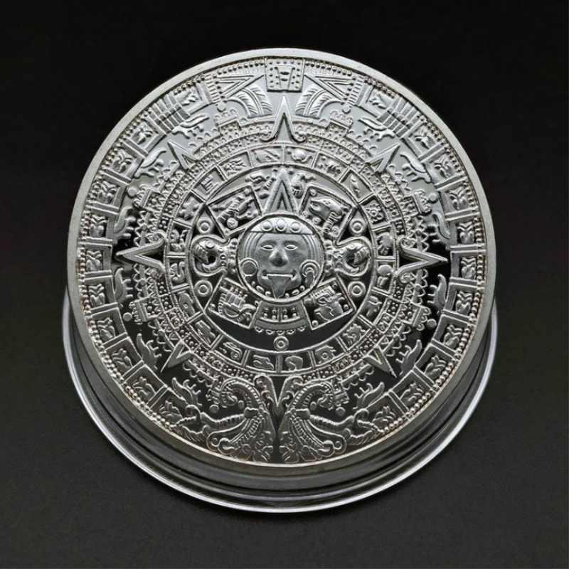 Maya Memorial moneda de oro/plata física Bitcoins colección de arte BitCoin monedas coleccionables