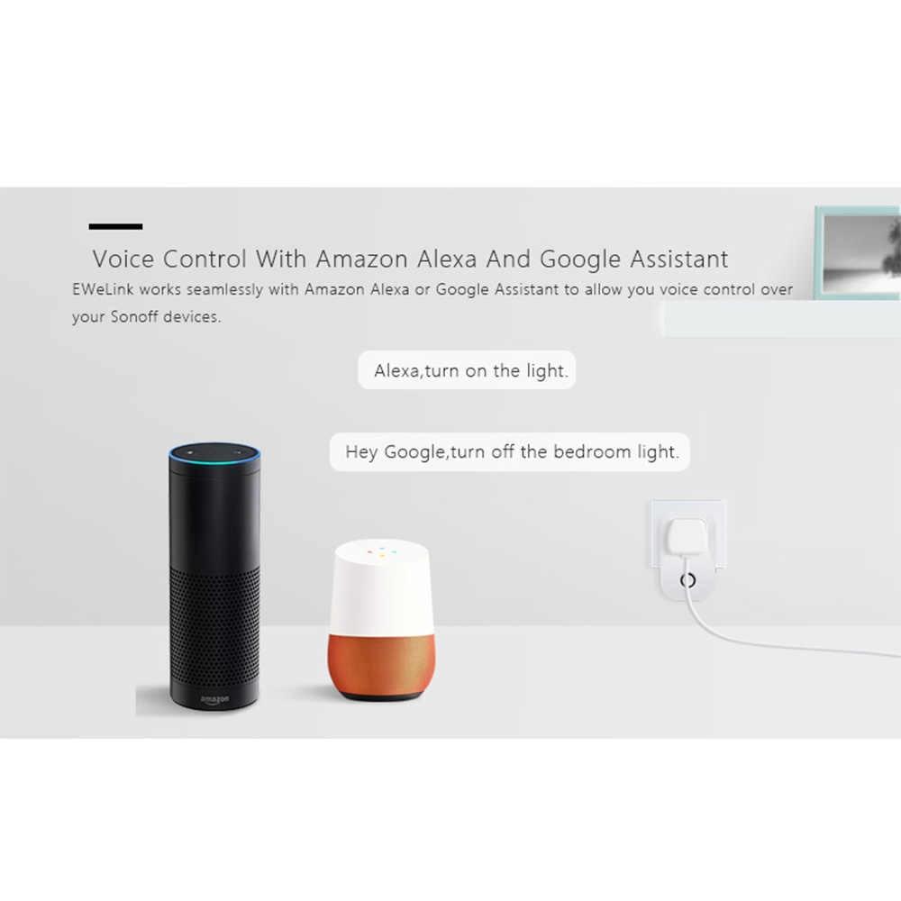 Sonoff S26 inteligentne gniazdo WiFi US/UK/CN/AU/EU bezprzewodowa wtyczka gniazda zasilania smart-domowy przełącznik współpracuje z Alexa Google asystent IFTTT