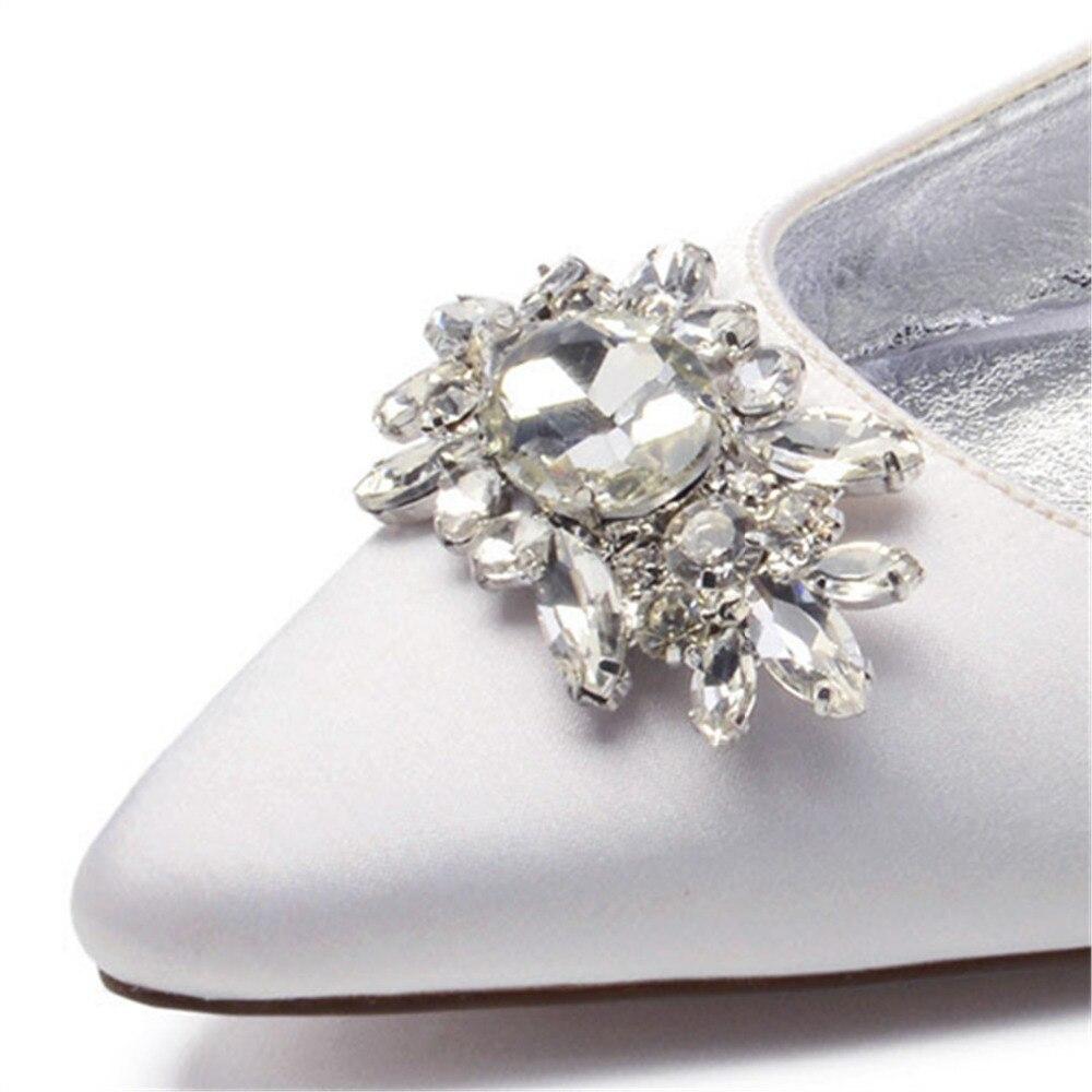 Creativesugar Slingback Pointed Toe Flats With Crystal Brooch Lady Satin Evening Dress Shoes Bridal Wedding Prom Yellow Navy