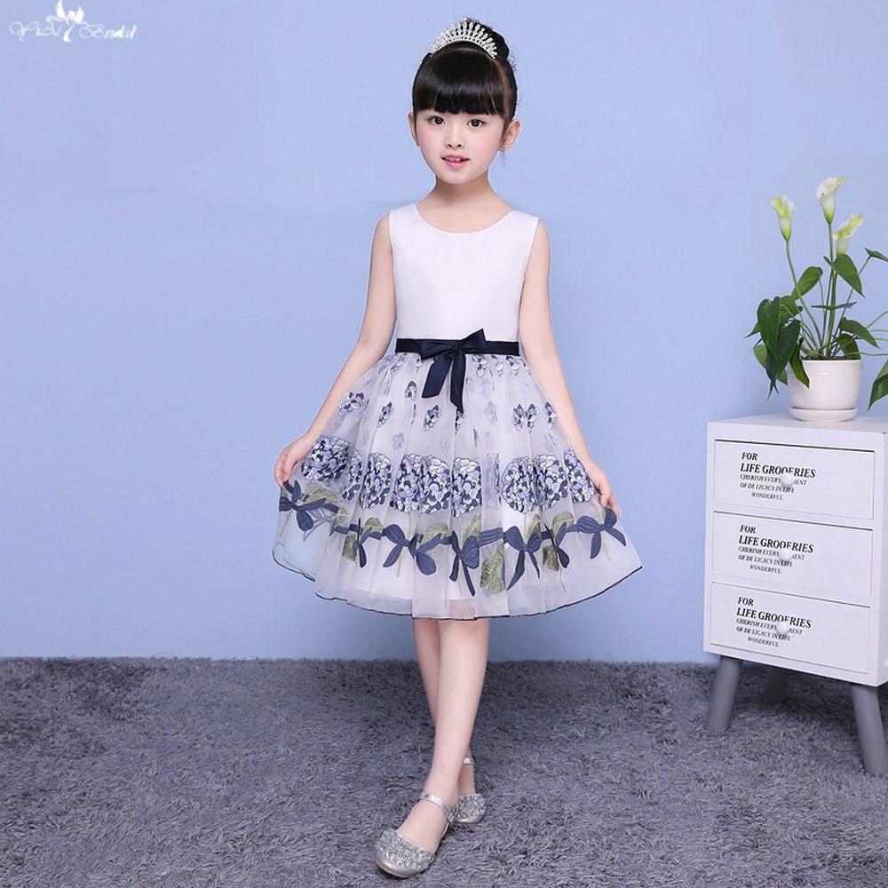 LZC006 Simple A Line Flower Girl Dresses Satin Flower Girl Dress