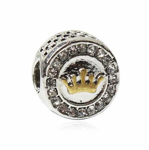 פשוט סגנון הצהרת קטן כנפי צלב עץ פופקורן קריסטל חרוזים קסמי Fit פנדורה צמידי צמידים לנשים ביצוע Bijoux