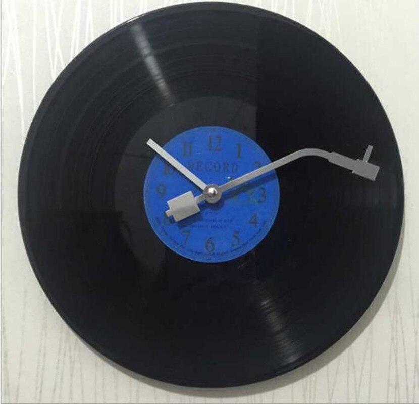 Quartz Round Vintage Cheap Wall Clock Design CD Black Vinyl Record Clock Duvar Saati Horloge Mural Kitchen Watch For Home Decor