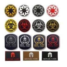 Four styles 3D Rubber Badge Star Wars Spartan Skull Pvc Tactical Combat Morale Us Military Swat Patch PVC Usa Army Outdoor