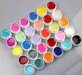30 Цветов Выбор! чистые Цвета Nail Art УФ-Гель Советы Блестящий Обложка Расширение Маникюр DIY # NO37 ~ 66