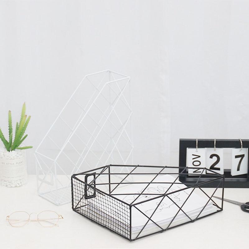 Скандинавские креативные органайзеры для журналов Ins, полированный металл, железная папка для документов, для офиса, рабочего стола, сетка для файлов