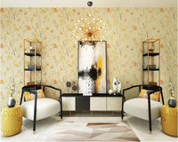 Beibehang PVC Modern Chinese 3d Wallpaper Pastoral Garden Butterfly Living Room Bedroom Sofa TV Background Wall