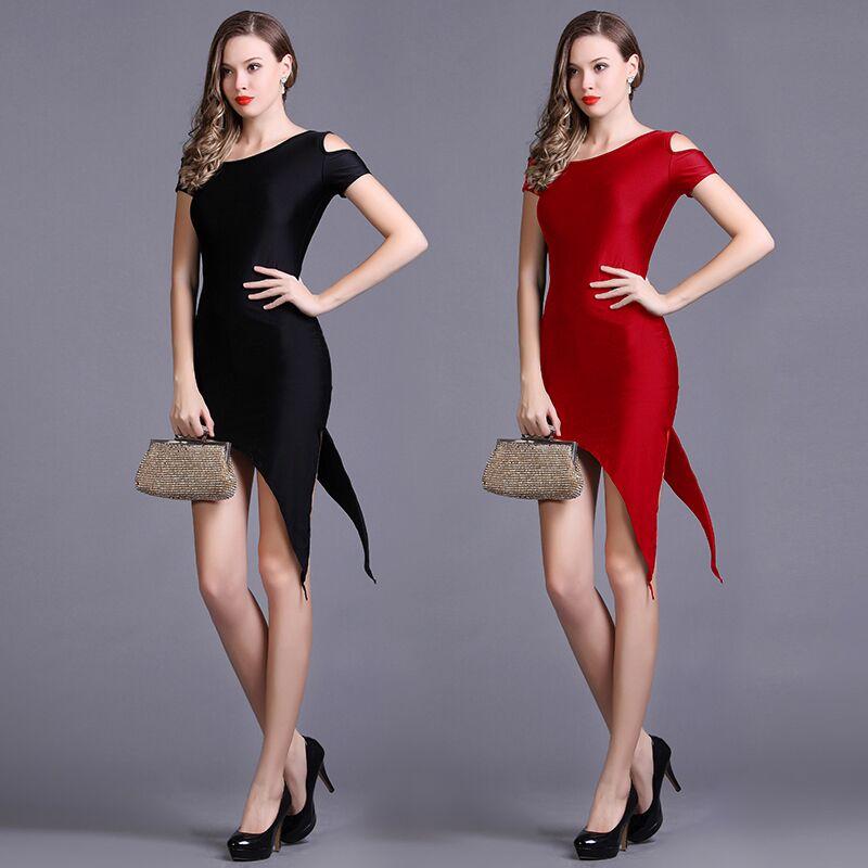 Autumn Inclined Oblique Pendulum Practice Pay New Latin Dance Dress Professional Performance Dance Clothes Dress Performance