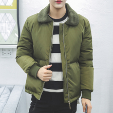 Код плюс размер М-5XL 2016 Новый отдых мужская теплая зима тонкий пуховик лацкане черный и хаки два цвета дополнительно