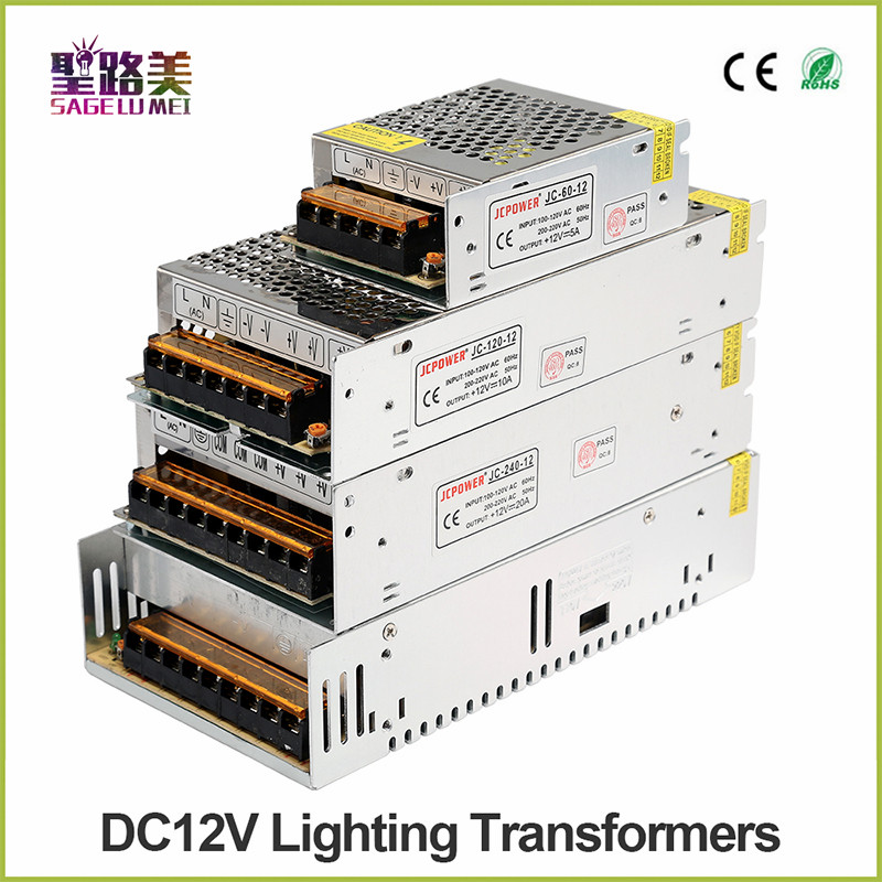 AC 110V~220V to 12v 5A 10A 20A 25A 33A 40A laboratory lighting transformer led switching DC power supply 12V charger regulator