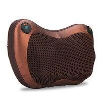 Soft Built in Heat Knead Massage Pillow Massager Cushion + EU Plug Power Adapter 8 Rollers Improve Blood Circulation Re oxygen