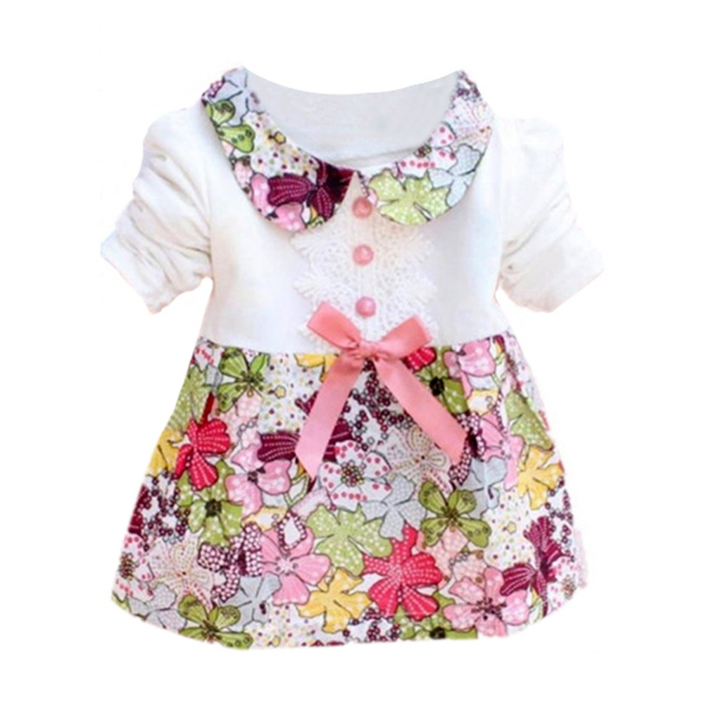 Toddler-Baby-Girls-Floral-Princess-Dress-Bow-One-Piece-Kids-Dress-0-2Y-L07-3