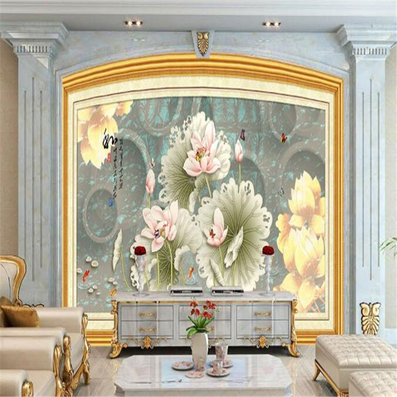 Custom Photo 3D Wallpapers Chinese Style Nature Walls Murals Vintage Flowers for Living Room Bedroom Home Decor Background Walls custom wallpaper for walls 3 d photo wall mural pastoral country road tv walls 3d nature wallpapers for living room