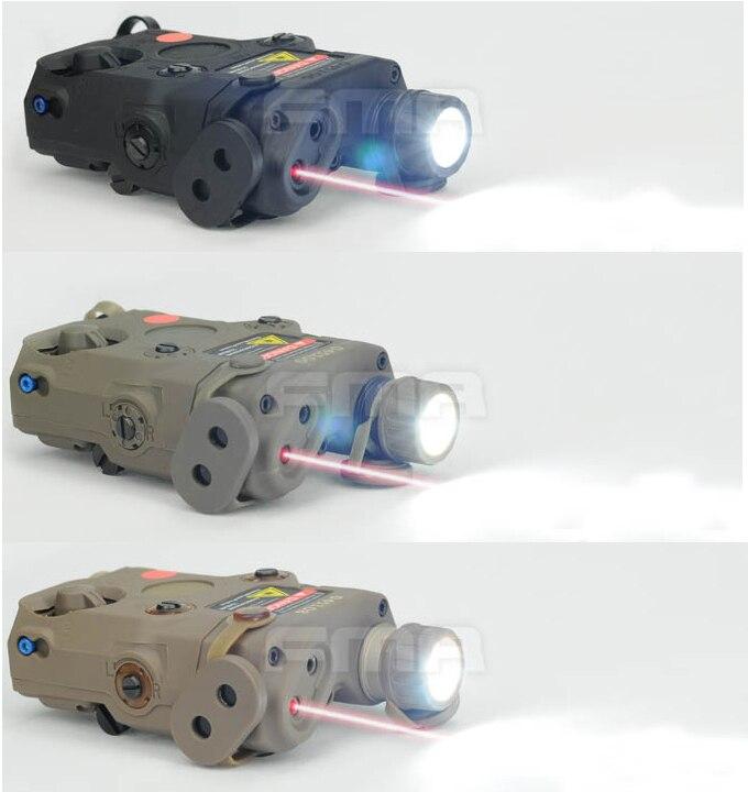 Version De Mise à Niveau Peq-15 Fma Tb0066/0067/0070 Led Lumière Blanche + Laser Rouge Avec Lentille Ir Bk/de/fg