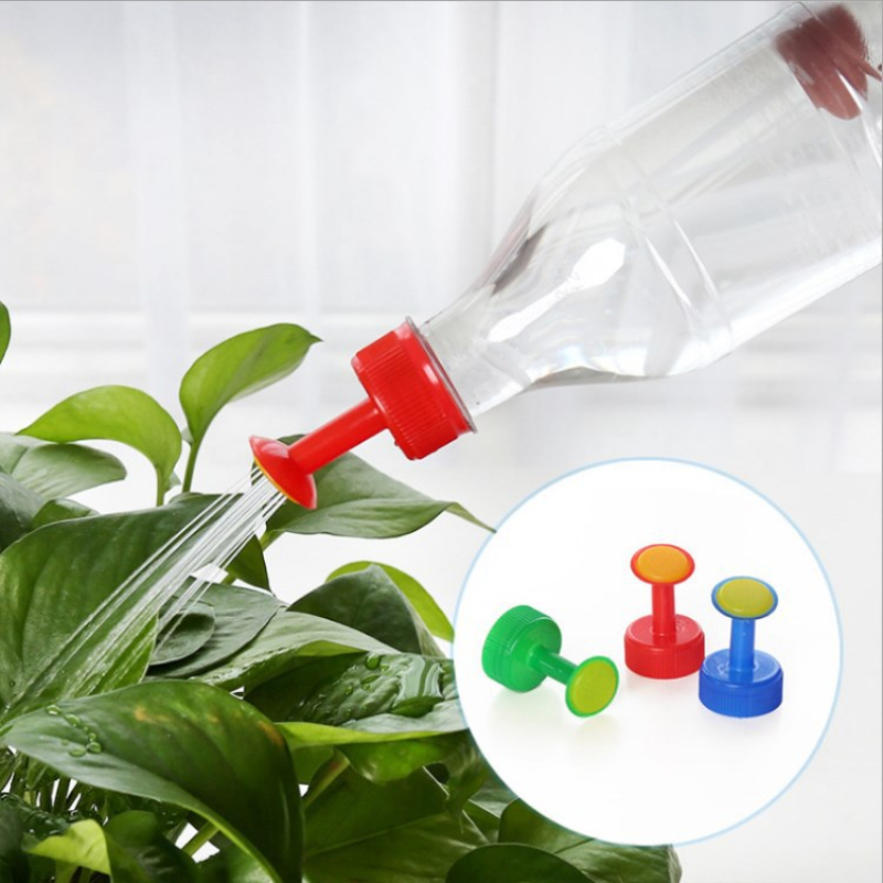 Plastic Home Pot Watering Bottle Nozzle For 3cm Water Bottle Sprinkler Nozzle Plants Flower Watering Tools Random Color