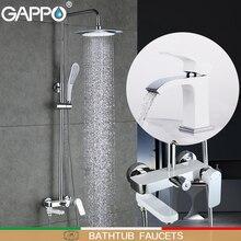 GAPPO Кран для ванной с банный смеситель для душа набор смеситель для ванны Ванная комната Душ Ванна кран осадки Душ смеситель torneira