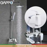 GAPPO robinets de baignoire bain douche robinet ensemble mitigeur de bain salle de bain douche baignoire robinet pluie douche bassin robinet torneira