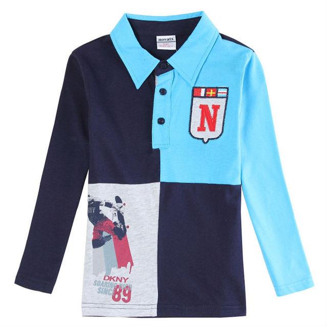 Bebé ropa de los muchachos niños camiseta para niños de manga larga t camisa roupa nova marca niños ropa niños ropa chicos camisa