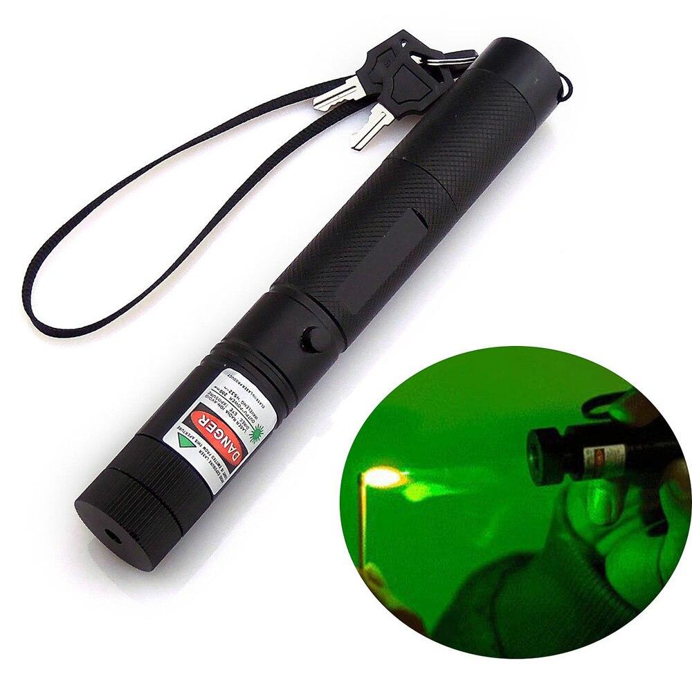 XpertMatic Military 532nm 5mw 303 Green Laser Pointer Lazer Pen Powerful Green Light Laser Pointer Pen Bore Sighter