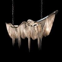 Modern Aluminium Chain chandelier lighting luxury Italy Tassel chain drop lamp Lobby Hotel Club Villa Project Light