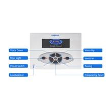 цены square silver shower fm radio control , shower speaker/light/exhaust fan function panel