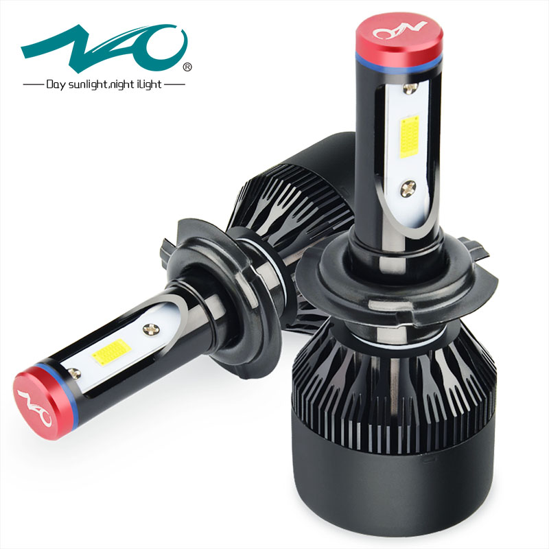 NAO H7 led Headlights Automobiles LED H7 lamp All in one design Car Lights Bulb 72W 8000LM White 6000K 12V 24V K1 nao nao for all we know 2 lp