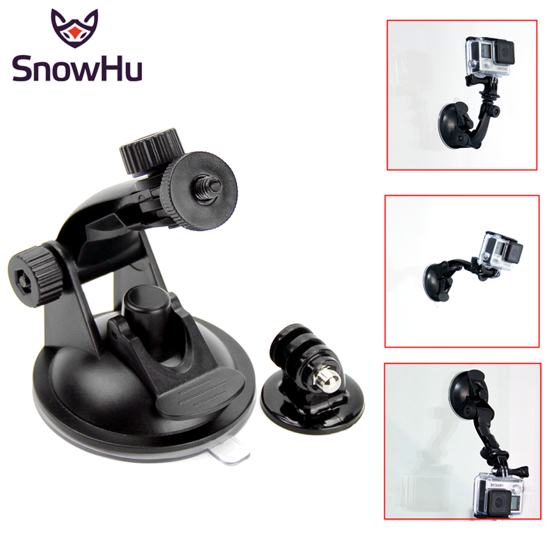 SnowHu Car Suction Cup Adapter Window Glass Tripod For Gopro Hero 8 7 6 5S 4 For sjcam Xiaomi yi Action Camera accessories GP61