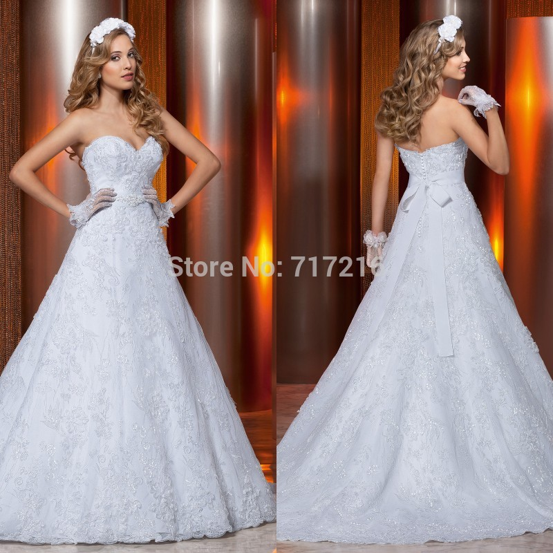 New Design Black Sweetheart Lace Up Crystal Embroidery: New Design Lace Wedding Dresses! Sexy Sweetheart Shiny