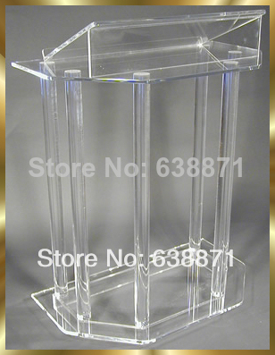 Free Shiping Clear Acrylic Lectern,Perspex Podium,Pmma Pulpit/Speaker Stand