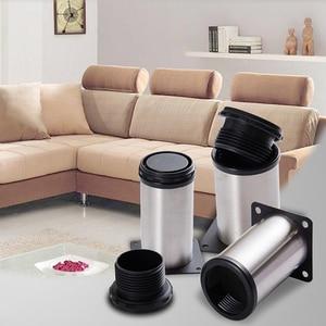 Image 5 - 4PCS Adjustable Stainless Steel Furniture Legs 5CM 40CM Cabinet Table Sofa Bed Foot TV Feet Salon Tafel  Chair Protector Leg
