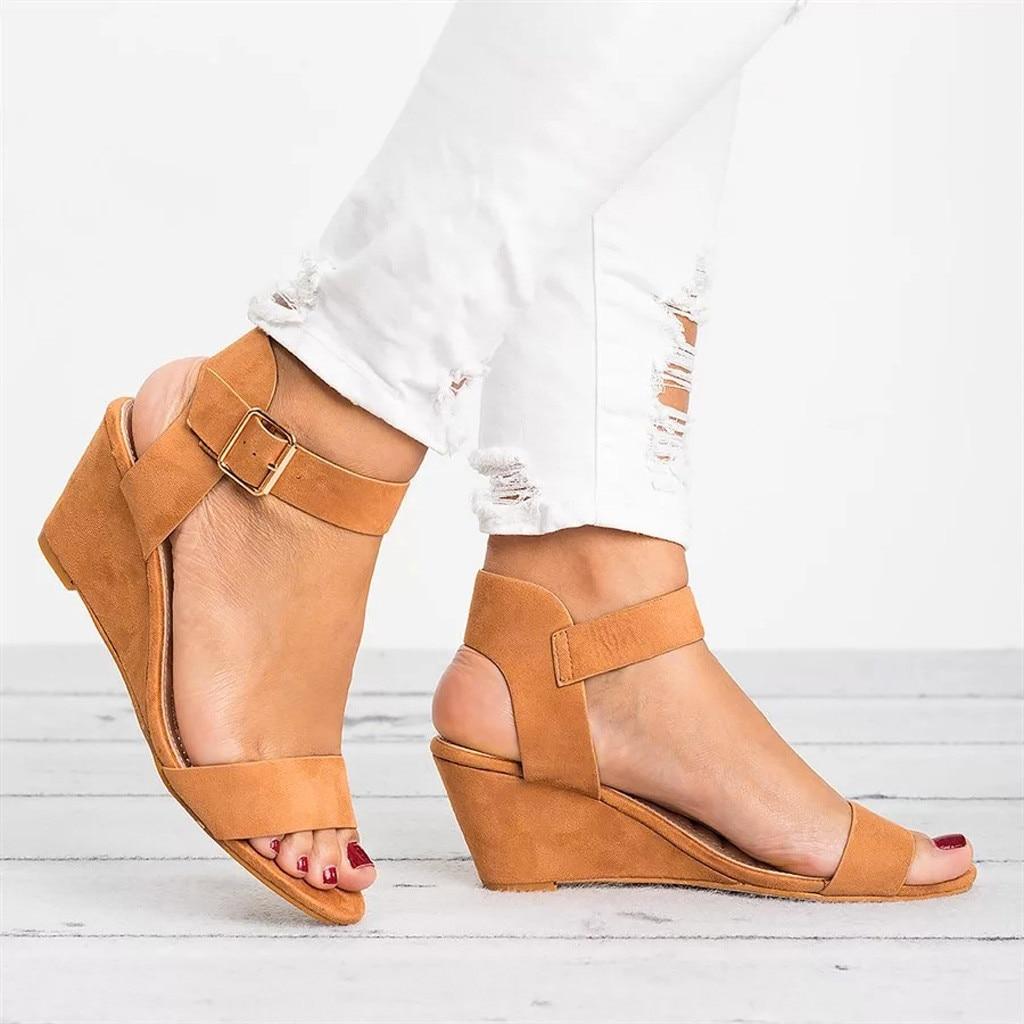 9ba3ab9a81e 2018 Autumn Comfortable Womens Wedges Shoes For Women Shoes Women s Summer  Shoe Ladies Sandals Wedge Sandals Clear Heels 2019