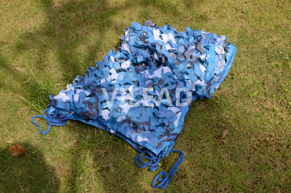 VILEAD 10M*10M Blue Camouflage Netting Jungle Camo For Portable Car Canopy Beach Shelter Theme Party Decoration Balcony Tent