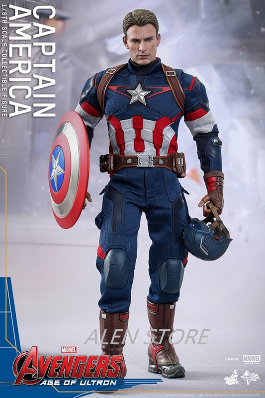 цены ALEN Movie Figure 31 CM The Avengers 2 Captain America 1/6 Joint movable PVC Action Figure Model Collectible Toy
