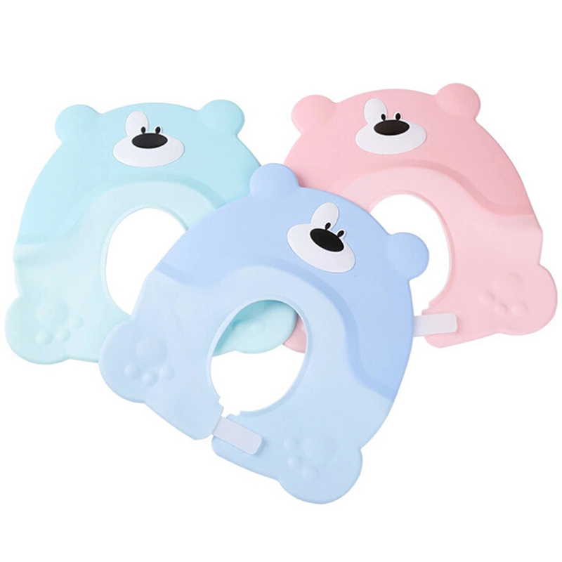 Adjustable Baby Shower Shampoo Hat Toddler Kids Shampoo Bathing Shower Cap Wash Hair Shield Caps Baby Care Products