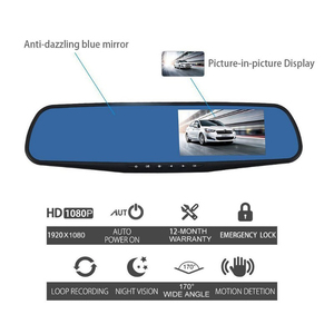 Image 3 - 1080P 4,3 Zoll Dash Cam Auto Kamera Spiegel 170 HD Fahren Recorder Kamera Nachtsicht Auto DVR Camem Fahrzeug kamera Recorder