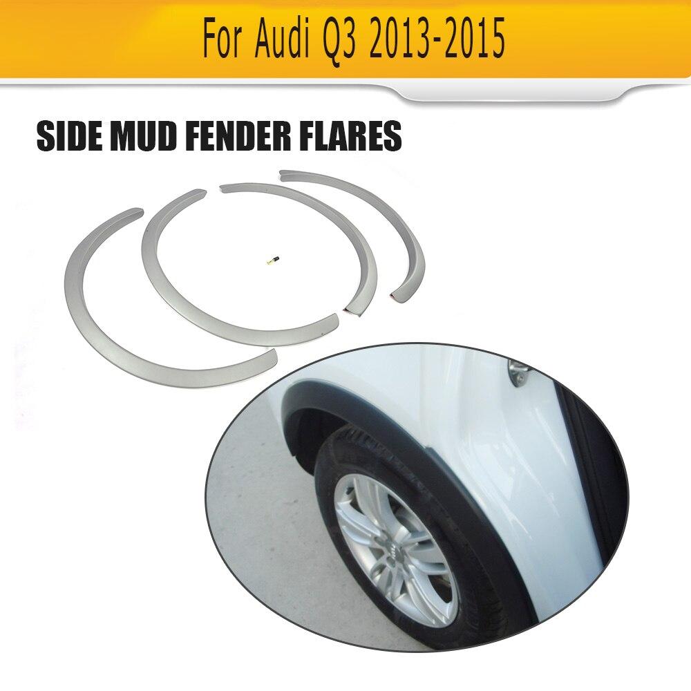ПП серый сторона автомобиля расширители колесных арок для Audi,авто сторона крыло вспышки для Ауди Q3 2013-2015
