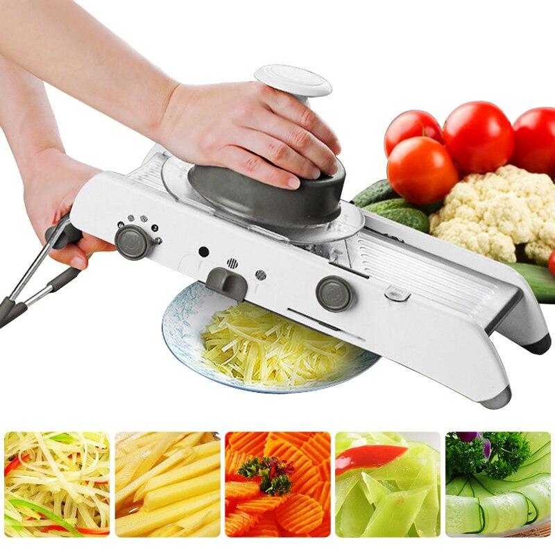 Mandoline Slicer Manuelle Gemüse Cutter Professionelle Reibe Mit Einstellbare 304 Edelstahl Klingen Gemüse Küche Werkzeug
