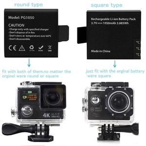 Image 4 - 5Pcs Originele Eken Batterij 1050Mah Eken Oplaadbare Li Ion Reservebatterij Voor Eken H9 H9r H8 H8r H3 H3r sjcam SJ4000 SJ5000X