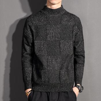 Wysokiej jakości męskie swetry z kaszmiru swetry w stylu casual Men duże rozmiary znosić swetry z golfem zimowe ciepłe swetry tanie i dobre opinie REGULAR STANDARD O-neck Komputery dzianiny CLASSDIM Standardowy wełny Pełna CASHMERE Mikrofibra NONE Stałe Na co dzień