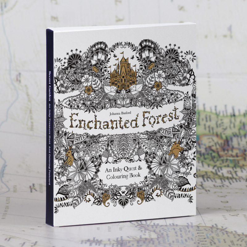 English Edition Enchanted Forest /Secret Garden 30 Sheets Coloring Card Tintage Postcards Painting Drawing Cards ernest chesneau english painting