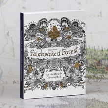 English Edition Enchanted Forest Secret Garden 30 Sheets Coloring Card Tintage Postcards Painting Drawing Cards